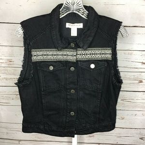 H&M Coachella Embroidered Vest Size 12